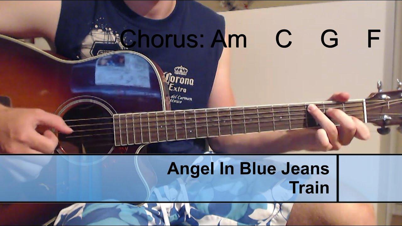 Guitar Tutorialangles In Blue Jeans Train Chordstabs