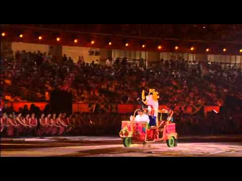 Shan with Shera Commonwealth Games Delhi 2010 Closing Ceremony Oct 14th