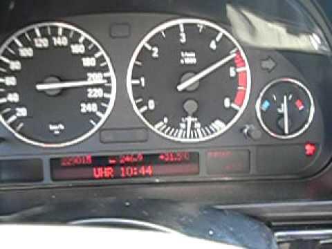 Bmw 525 Tds E39 Top Speed Höchstgeschwindigkeit видео