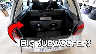 LOUD SUBWOOFERS IN SMALL CAR (MK4 GOLF)