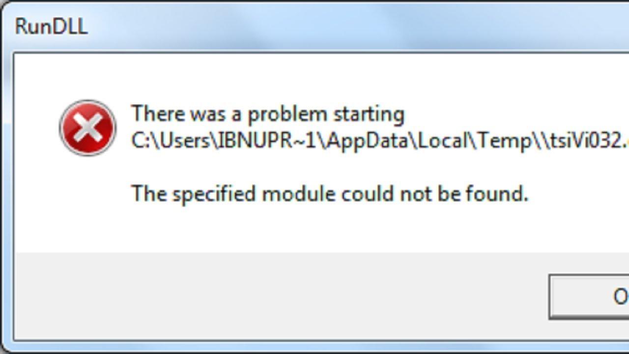 Fix: RunDLL Error on Windows 10