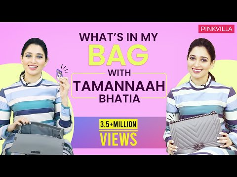 What's in my Bag with Tamannaah Bhatia| Fashion | Bollywood| Pinkvilla