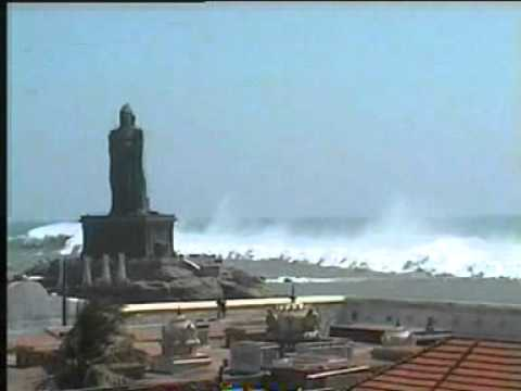 TSUNAMI at Kanniyakumari, Tamilnadu Travel Video