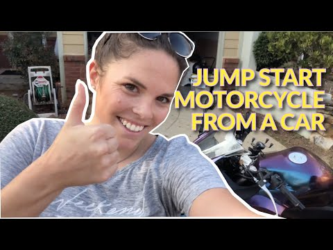 how to jump a motorcycle off from a car youtube. Black Bedroom Furniture Sets. Home Design Ideas