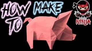 How to make: Origami Pig (Fuchimoto Muneji)