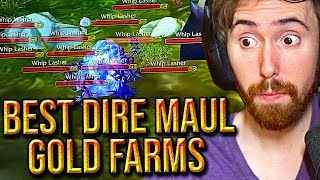 Asmongold Reacts To The Top 5 Dire Maul GOLD FARMS By Punkrat - Classic WoW