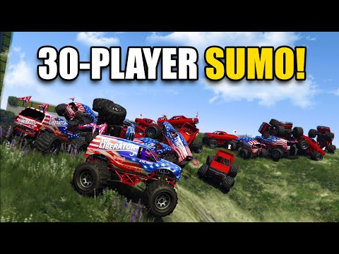 30-PLAYER MONSTER TRUCK SUMO! (this was a mistake..) | GTA 5 Online