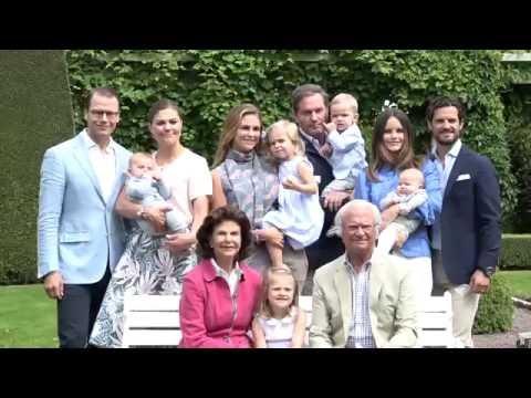 Posado De La Familia Real De Suecia Diez Minutos Youtube