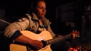 Сектор Газа-Звонок ;Прыгай вниз-Олеся Троянская под гитару
