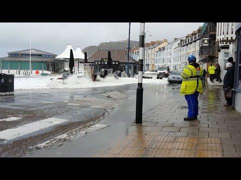 Storm Brian In Aberystwyth