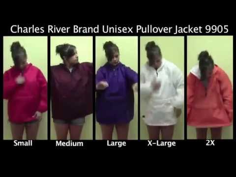 Charles River Brand Hooded Pullover Jacket Unisex Hoodie Sizing