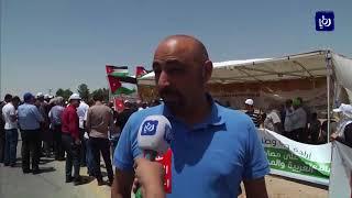 وقفة احتجاجية في إربد رفضاً لاتفاقية غاز الاحتلال - (25-7-2018)