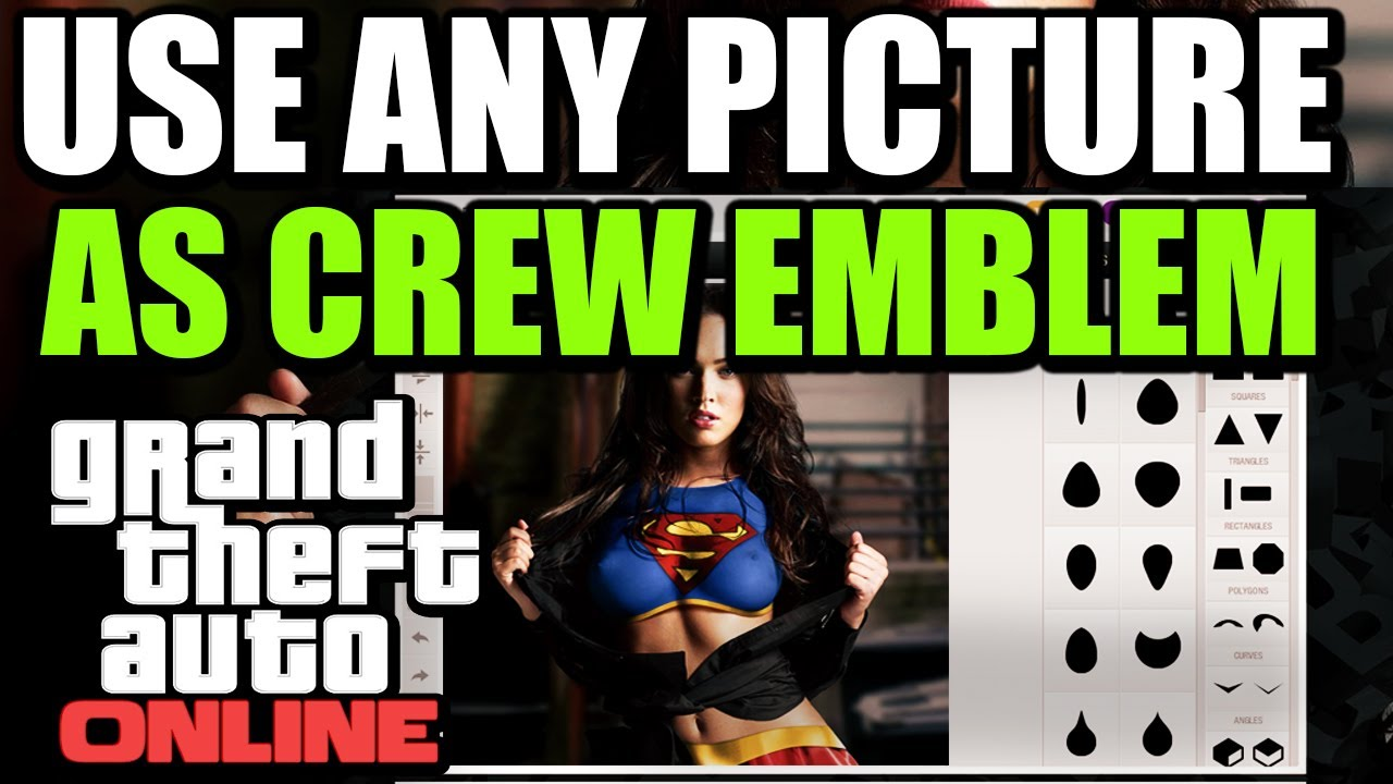 GTA V ONLINE - USE ANY PICTURE AS CREW EMBLEM ! - [ XBOX & PS3 ]
