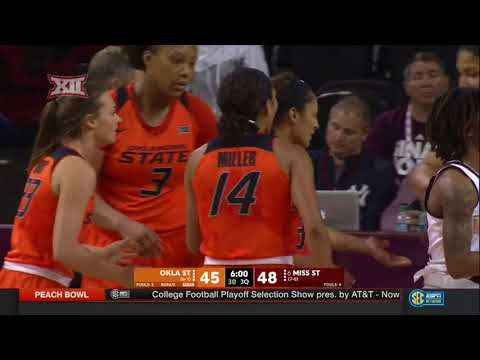 Oklahoma State vs Mississippi State Women's Basketball Highlights