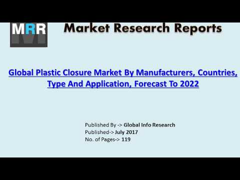 Global Plastic Closure Market Analysis 2017 by Size, Share, Growth, Trends, and Forecasts to 2022