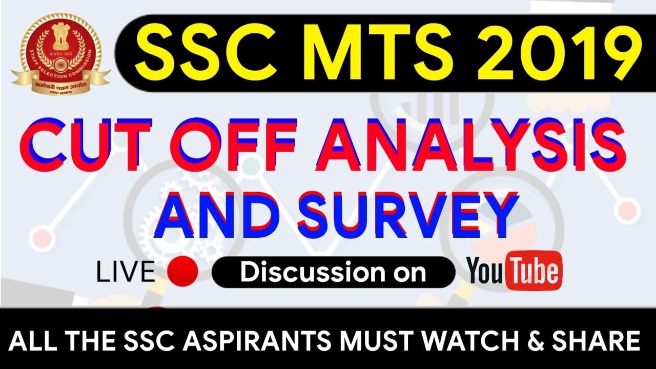 ssc mts 2019 expected cut off Survey