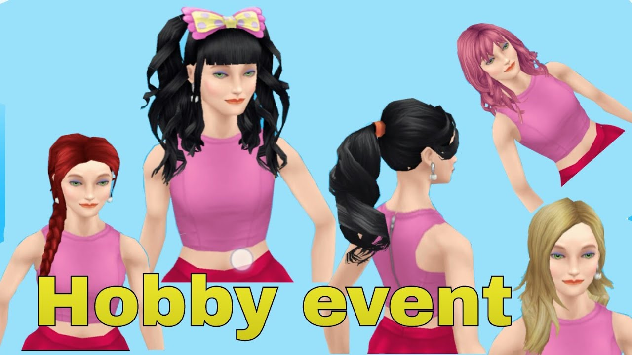 The sims freeplay long hairstyle - Sims Free Play New Hair Hobby Event