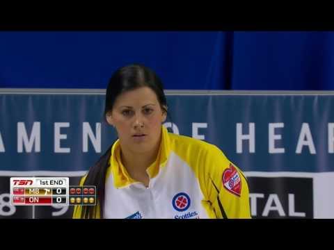2017 Scotties Tournament of Hearts - Englot (MB) vs. Homan (ON) - Draw 16