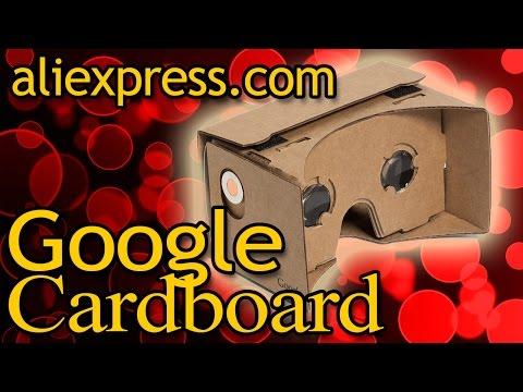 Посылка из Китая Google Cardboard Шлем виртуальной реальности обзор с Aliexpress