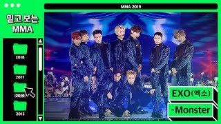 Download lagu [믿고보는MMA] 강렬함 그 자체 EXO(엑소) - Monster