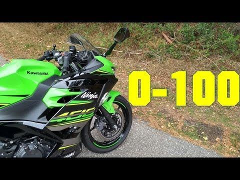 2018 Kawasaki Ninja 400 0-100 KMH - 0-60 MPH
