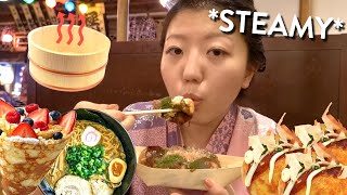EATING at a JAPANESE ONSEN ♨️ ! Festive Bath Experience in Tokyo, Japan
