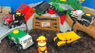 Tonka Climbovers Story with Paw Patrol Rubble Ripsaw Summit - Dump Truck Toys For Kids