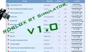 ROBLOX RT Simulator v1.0