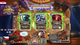 Lyra going CRAZY - Hearthstone Global Games CZ vs Croatia 1/2