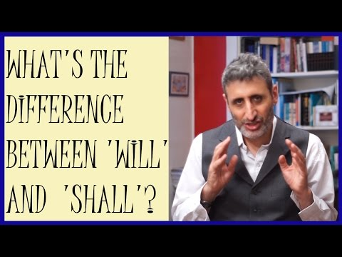 What is the dfference between will and shall?