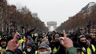 تظاهرات جلیقه زردها برای پنجمین هفته ادامه یافت