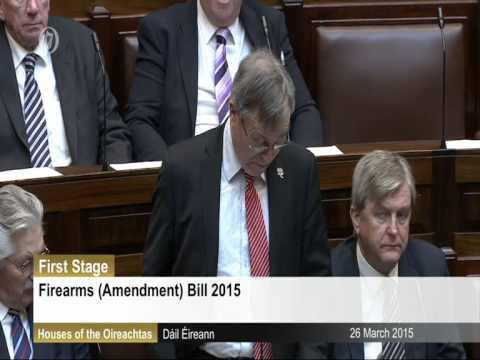 Deputy Robert Dowds speaking on the Firearms Bill