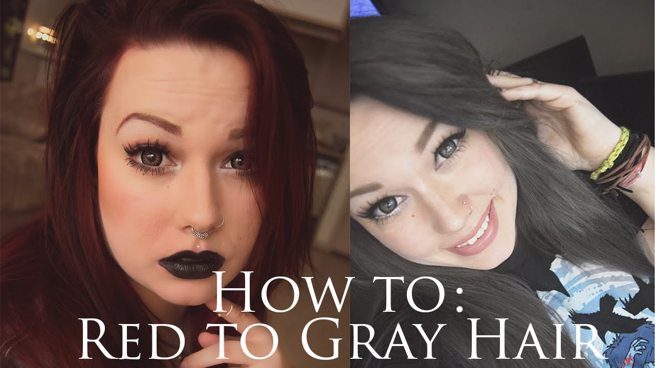 How To Dark Red To Dark Gray Hair Youtube