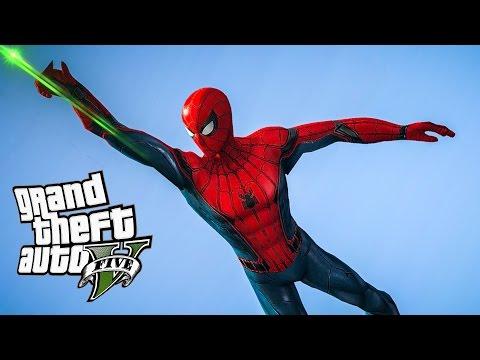 PojzPlaza - ยอดมนุษย์ยิงใย สไปเดอร์แมน!!! GTAV (Spiderman mod)