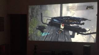 The last Guardian gameplay on ps4 pro and projector 1080p