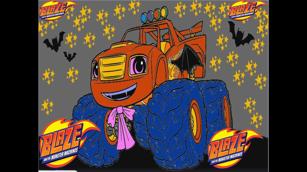 Blaze and the monster machines halloween color episode for Blaze episodi