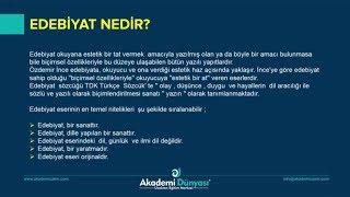 Türk Dili ve Edebiyatı | 9.Sınıf | Edebiyat Nedir ? | Konu Anlatımı | Gamze Erdal |