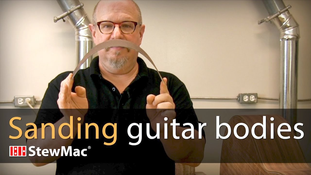 Michael Greenfield shows how to sand guitar bodies