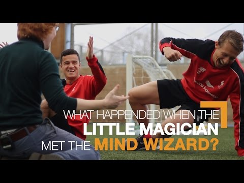 Philippe Coutinho & Lucas Leiva meet 'mind wizard' Dave Alnwick