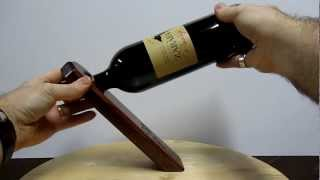 Self Balancing Wine Bottle Holder - Mahogany Wood