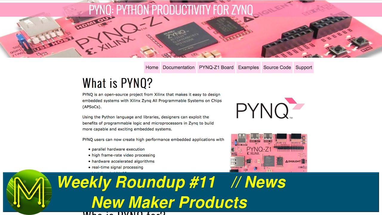 #068 Weekly Roundup #11 - New Maker Products