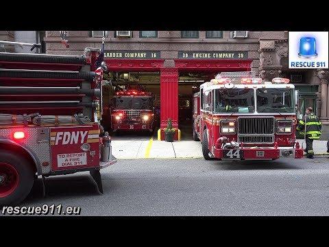 [RARE - 3 FDNY Fire Trucks in 1 House] E39 & E44 & L16