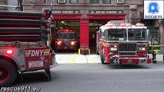 [RARE - 3 FDNY Fire Trucks in 1 House] E39 & E44 & L16