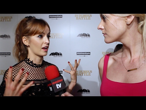 Ahna OReilly Interview In Dubious Battle Premiere Red Carpet