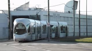 UTTR Lyon: Sortie d'une rame Citadis 302 des ateliers