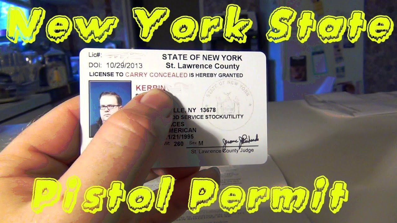 NYS St  Lawrence County Pistol Permit (CONCLUSION)