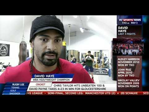 05/03/11 Sky Sports News: Wladimir Klitschko vs David Haye Update
