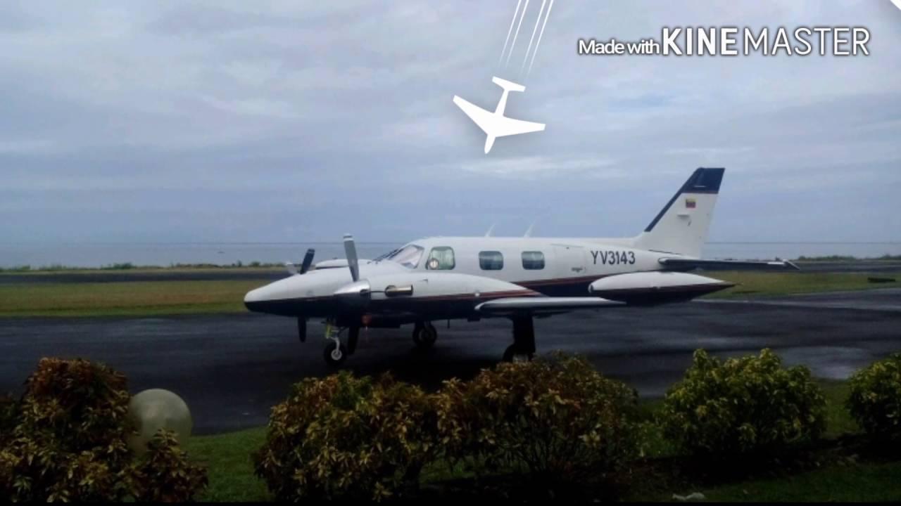 Cessna caravan departure Executive Cargo @ the Canefield Airport
