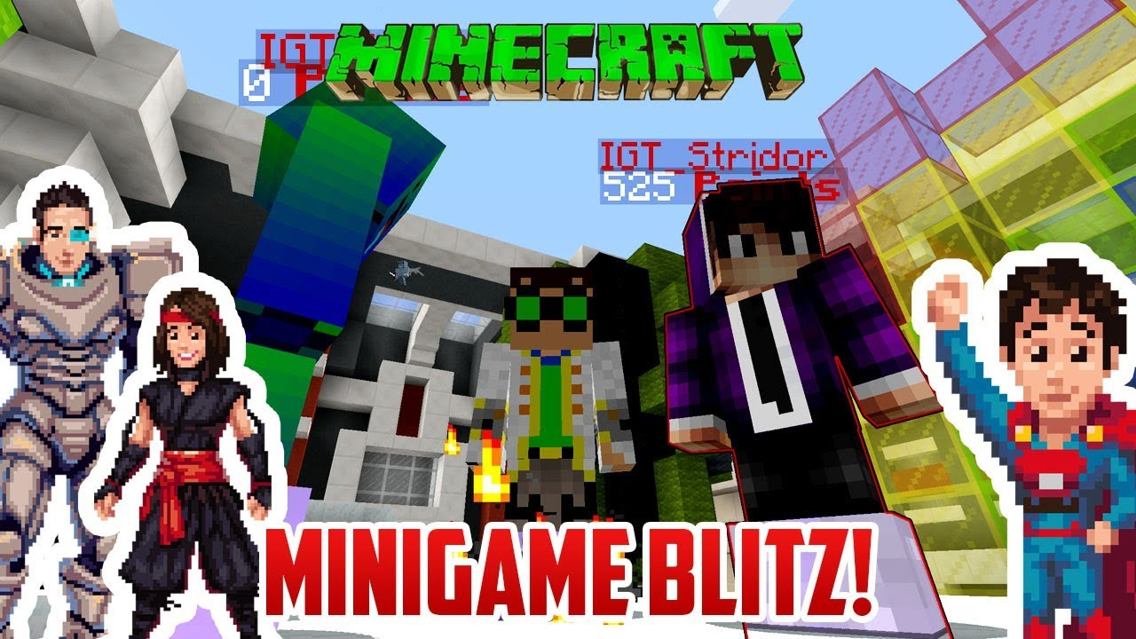 Family Competition Versus Each Other Minecraft Minigame Blitz Youtube