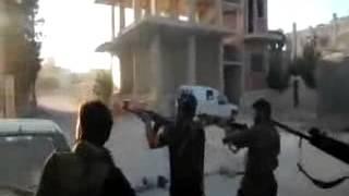 Сирия-обстрел и ранение боевиков